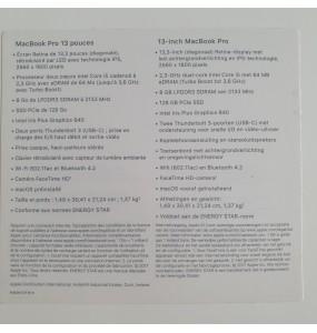 """Macbook pro rétina 13"""" 2017 - occasion"""